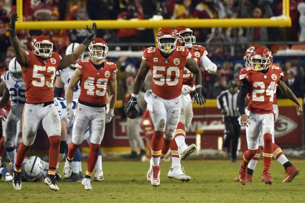 NFL Playoffs, Demi-finales de conférence AFC – Kansas City surclasse Indianapolis