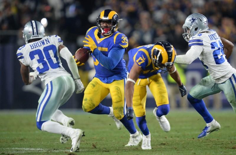 NFL Playoffs, Demi-finales de conférence NFC – Les Rams courent vers la finale