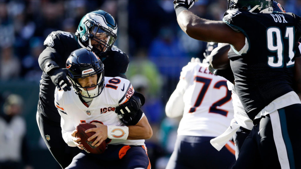 Mitchell Trubisky Bears Eagles NFL