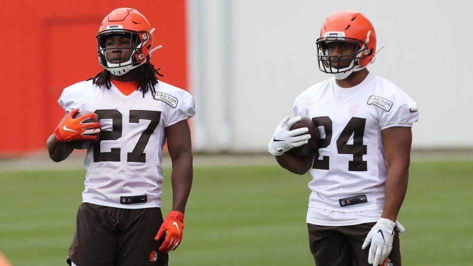 Nick Chubb et Kareem Hunt - Cleveland Browns