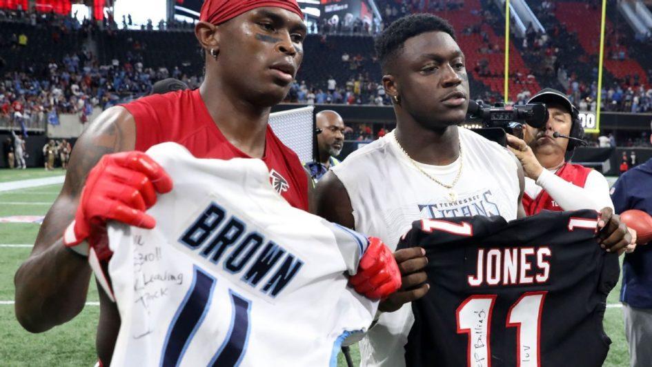 Julio Jones et A.J Brown